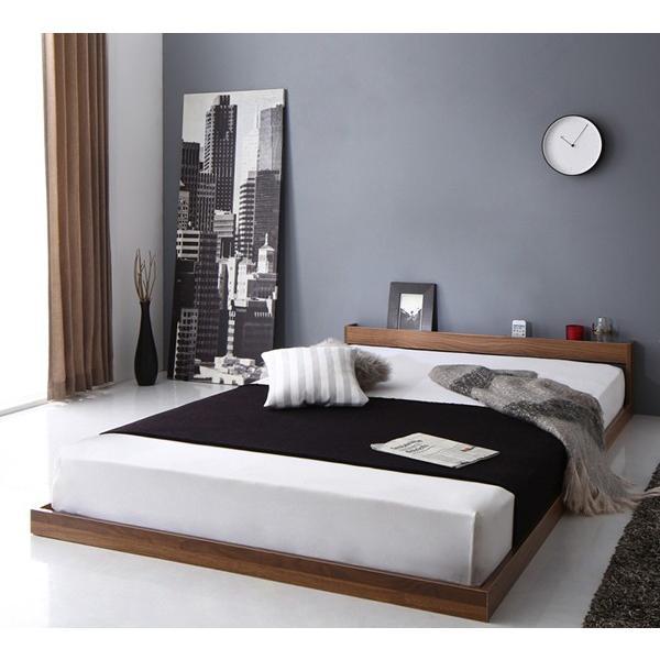 送料無料 棚 宮 cm 2nd ロー 幅105 フロア スカイ 棚付き 高さ30 ライン ベッド ベット SKYline 長さ215 シングル フレーム セカンド 木製ベッド ローベッド|shiningstore-life|12