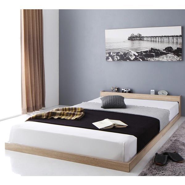 送料無料 棚 宮 cm 2nd ロー 幅105 フロア スカイ 棚付き 高さ30 ライン ベッド ベット SKYline 長さ215 シングル フレーム セカンド 木製ベッド ローベッド|shiningstore-life|09
