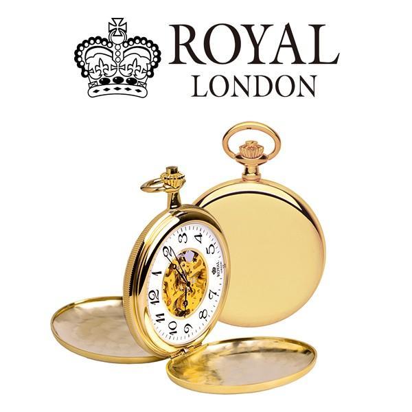 ロイヤル ロンドン ROYAL LONDON 手巻き 懐中時計 ポケットウォッチ 90004-01 ゴールド ホワイト