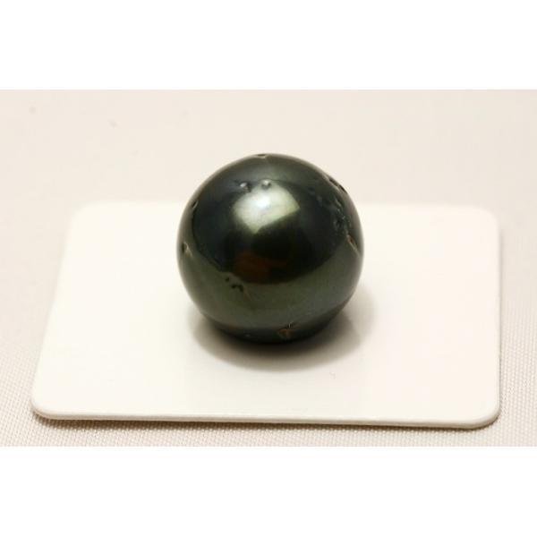 タヒチ黒蝶真珠パールルース 両穴 16mm ブラックカラー