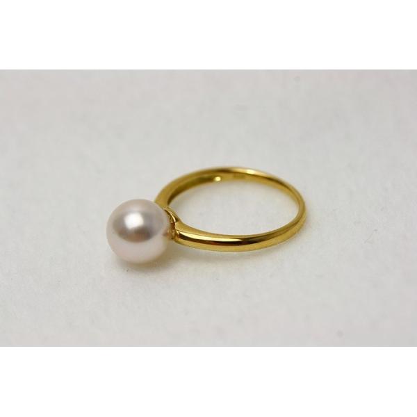 アコヤ真珠パールリング【指輪】 8.0-8.5mm ホワイトカラー K18製orK18WG製