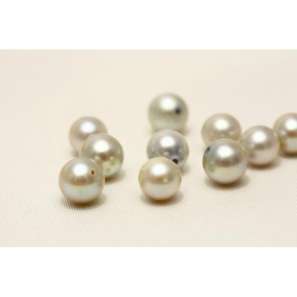 アコヤ真珠パールルース 両穴 10ピース 6-7mm グレーカラー