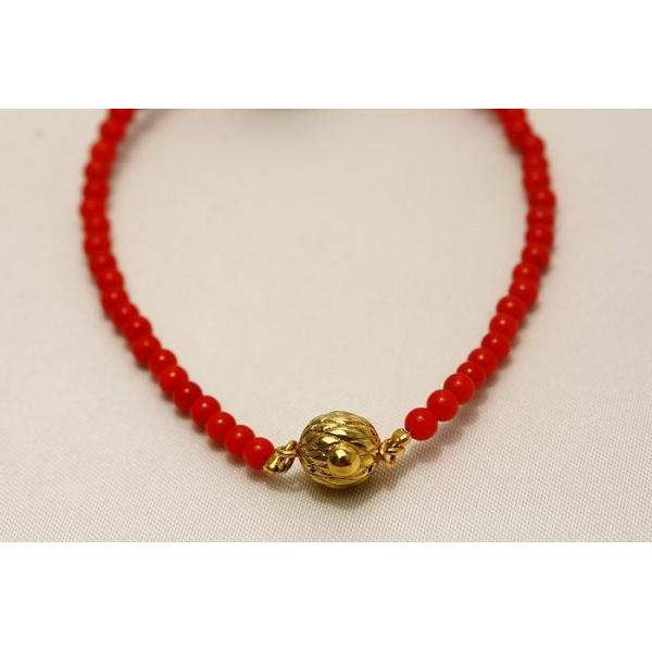 タヒチ黒蝶真珠パールブレスレット ブラックカラー 13mm 染赤珊瑚