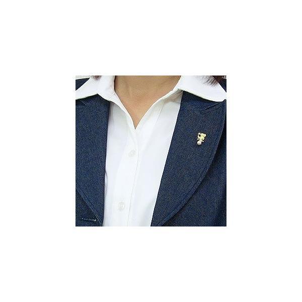 入学 入園 ブローチ パール あこや真珠 ふくろう ピンブローチ ラペルピン K18ゴールド ダイヤモンド 冠婚葬祭