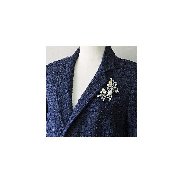 入学 入園 ブローチ パールブローチ 真珠ブローチ ペンダントネックレス兼用 マルチカラー シルバー レディース