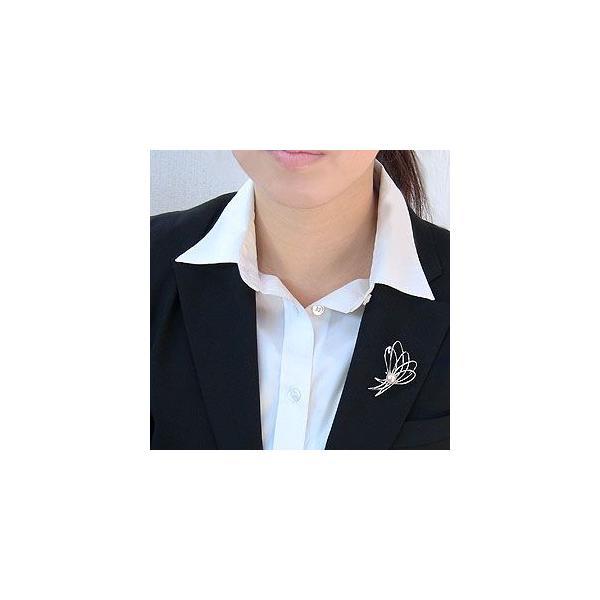 入学 入園 ブローチ パール あこや真珠パール ブローチ K18ホワイトゴールド ダイヤモンド 冠婚葬祭
