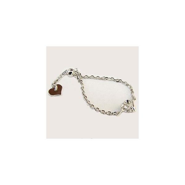 入学 入園 ハートリング チェーンリング ダイヤモンドリング ダイヤモンド指輪 ダイヤモンド サイズフリー K18WG