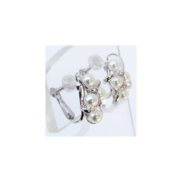 入学 入園 ベビーパール イヤリング あこや本真珠 3.5-4mm パールイヤリング ダイヤモンド 0.04ct ホワイトゴールド マルチプル 多数付き 冠婚葬祭