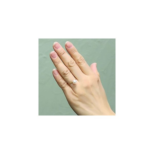 入学 入園 パールリング ピンキーリング 華奢リング 真珠指輪 K18 ゴールド あこや本真珠 8ミリ K18 ゴールド ご奉仕価格 冠婚葬祭