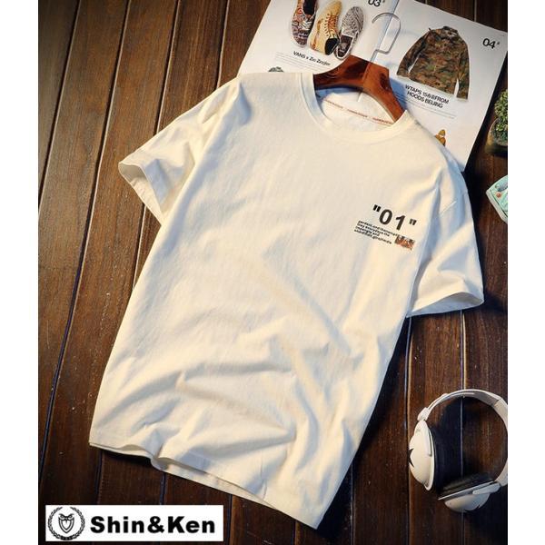 Tシャツメンズ半袖プリントコットンTシャツトップスデザインブランド夏物綿Tシャツdfkpt042