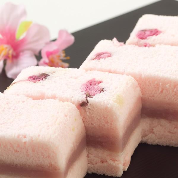 母の日 ギフト 2018 桜の風味が漂う和風ケーキ「桜ふわふわ」 1本 / 新杵堂|shinkinedo|05