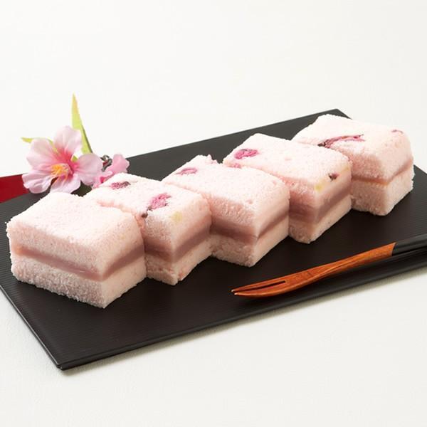 母の日 ギフト 2018 桜の風味が漂う和風ケーキ「桜ふわふわ」 1本 / 新杵堂|shinkinedo|06