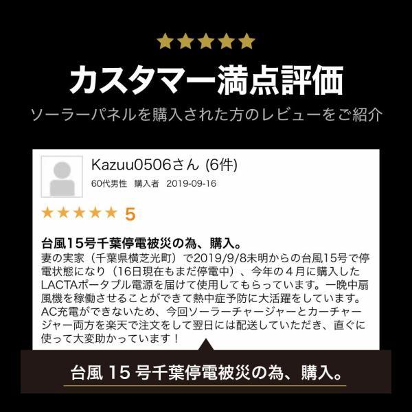 ポータブル電源 ソーラー ソーラーパネル 81W ソーラーチャージャー LACITA 日本メーカー ソーラー充電器|shinpei00001|03