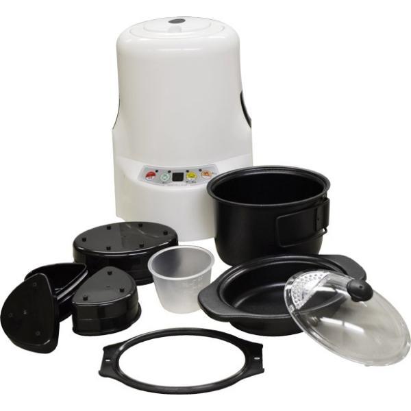 炊飯器 調理ができる 弁当箱 1合 HOTデシュラン2 白 HOTデシュラン2 HDS-2 shins 02