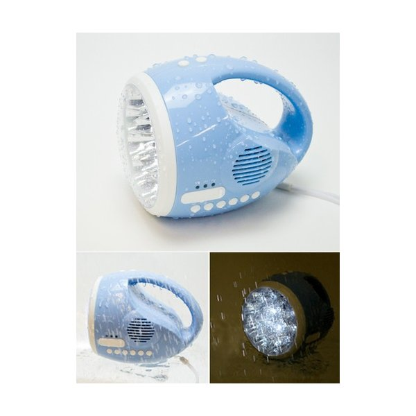 防滴 防災 非常用 多機能 LEDライト マンボウ LIT-BLED15(SB) LED 懐中電灯 FM AM ライト ラジオ 充電 手回し 携帯充電 防災グッズ ダイナモ 防水 ソリッ|shins|03