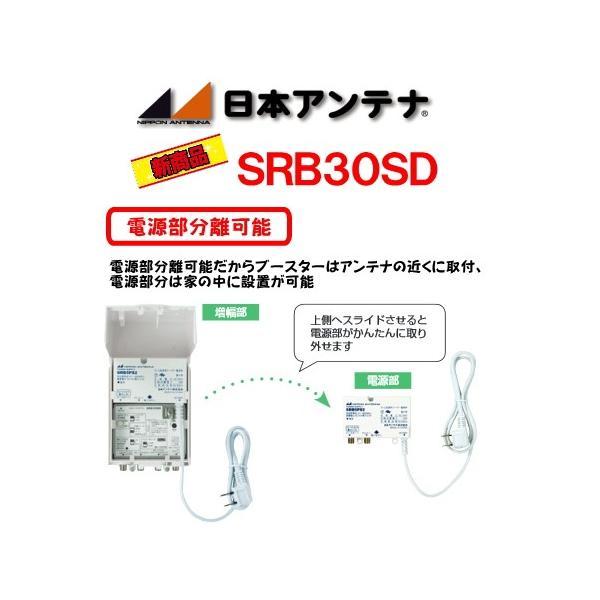 日本アンテナSRB30SD バルク 双方向CATV・BS/CSブースター 下り増幅型(30dB) BSブースター CSブースター CATVブースター アンテナブースター 地デジブースター|shins|04