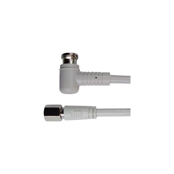 同軸ケーブル #3312A-4C/30 FL 3m F型 + L型 プラグ 接栓 アンテナ F+L|shins|03