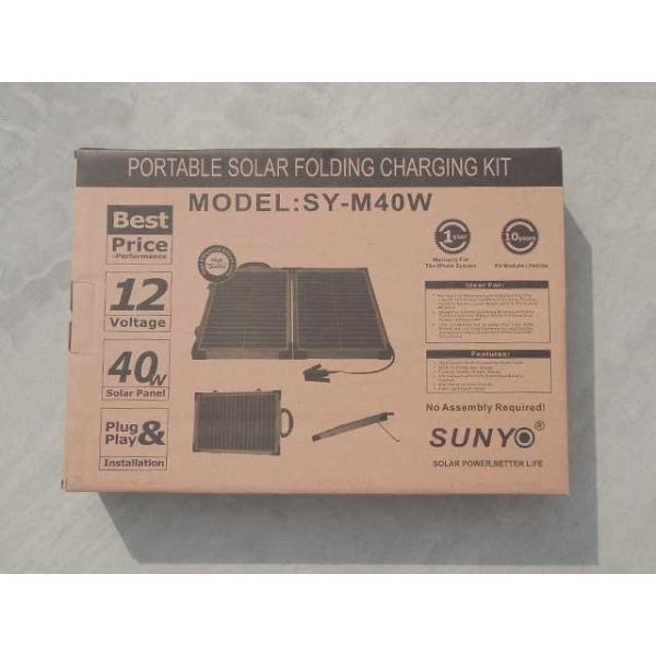 ソーラーパネル (ポータブル) M-08234 12V (最大17.4V) 40W SY-M40W-12 太陽電池モジュール 12V/40W 太陽 発電 自作 キット|shins|06