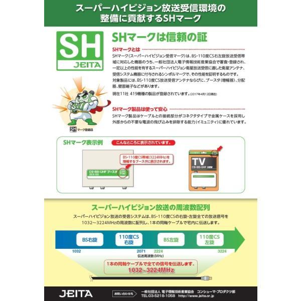 アンテナ 分波器 ケーブル付 4C #SEP-4F5032 F型 接栓タイプ SH登録商品 (SHマーク付) アンテナ|shins|04