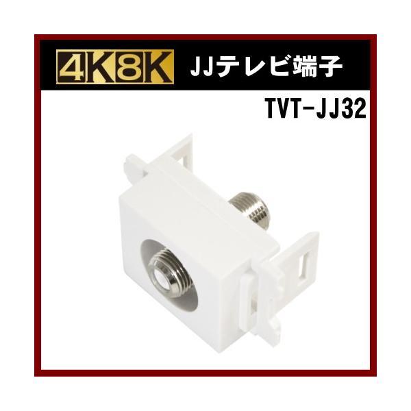 アンテナ 4K 8K 壁面テレビ端子 #TVT-JJ32 電流通過型 JJ型|shins