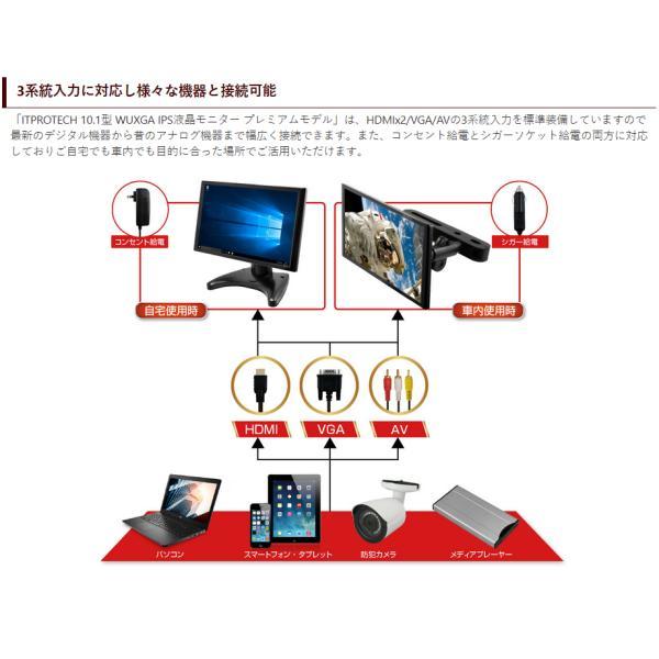 液晶モニター IPSパネル搭載 10.1インチ マルチモニター LCD10HVR-IPS2 ITPROTEC 10インチ|shins|09