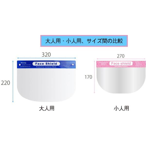 【小人用】 フェイスシールド【1枚】 簡易式 フェイスガード 水洗い可 感染予防 ウィルス対策 子供用|shins|06