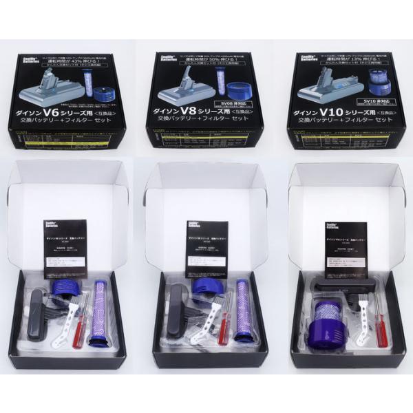 ダイソン 【V6シリーズ】 互換バッテリー V6-3000SP ソニー製セル dyson V6シリーズ Enelife Batteries v6 互換 バッテリー PSE DC58 DC59 DC61 DC62 DC72 DC74|shins|06