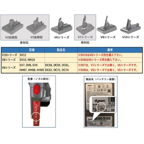 ダイソン 【V6シリーズ】 互換バッテリー V6-3000SP ソニー製セル dyson V6シリーズ Enelife Batteries v6 互換 バッテリー PSE DC58 DC59 DC61 DC62 DC72 DC74|shins|09