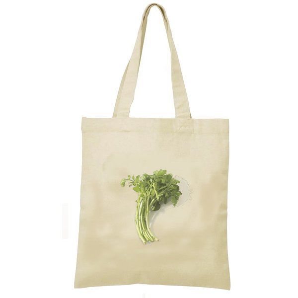 イタリアンパセリ トートバッグ キャンバス 12oz 綿100% ナチュラル色 食べ物 野菜 B4サイズ
