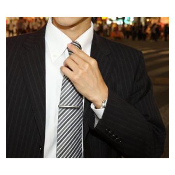 ネクタイピン ブランド 紳士屋 おしゃれなシルバーネクタイピン プレゼントにも最適なタイピン   日本製 半永久メンテ・修理|shinshiya-store|03