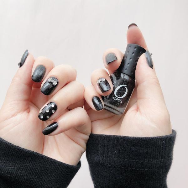 ORLY オーリー ネイル ラッカー マニキュア 品番 48637 ゴース 5.3mL ブラック 黒 シルバーラメ カラー ORLY JAPAN 直営店|shinwa-corp|05