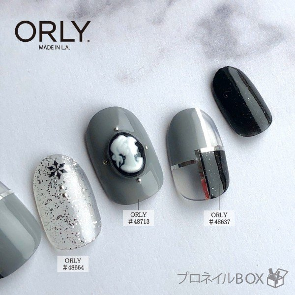 ORLY オーリー ネイル ラッカー マニキュア 品番 48637 ゴース 5.3mL ブラック 黒 シルバーラメ カラー ORLY JAPAN 直営店|shinwa-corp|09