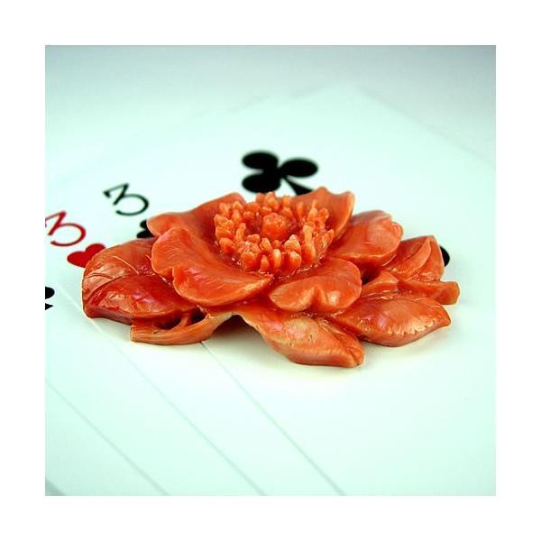 本珊瑚 薔薇極上細工彫 11.6g ジュエリールース dc989