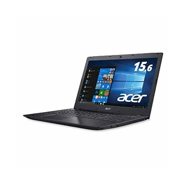ACER E5-576-N34D/K ノートパソコン Aspire E 15 オブシディアンブラック [15.6型 /intel Core i3 /HDD:500GB /メモリ:4GB]の画像