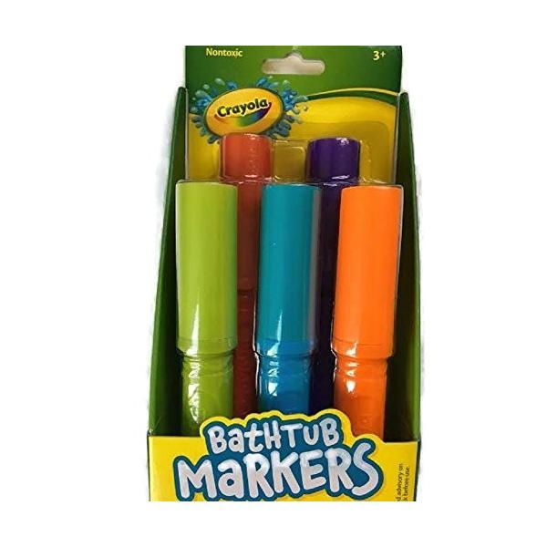 Crayola Bathtub Markers with 1 Bonus Extra Markers AND Crayola Bathtub Crayon...