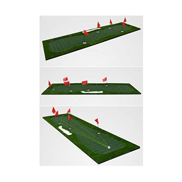ゴルフパットマット、パッティンググリーン、ポータブルプラクティスマット、屋内/屋外ゴルフマット、トレーニング援助装置 - 100x350cm (色|shinydoll-store|02