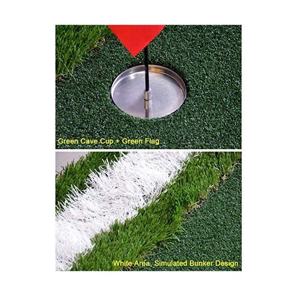 ゴルフパットマット、パッティンググリーン、ポータブルプラクティスマット、屋内/屋外ゴルフマット、トレーニング援助装置 - 100x350cm (色|shinydoll-store|03