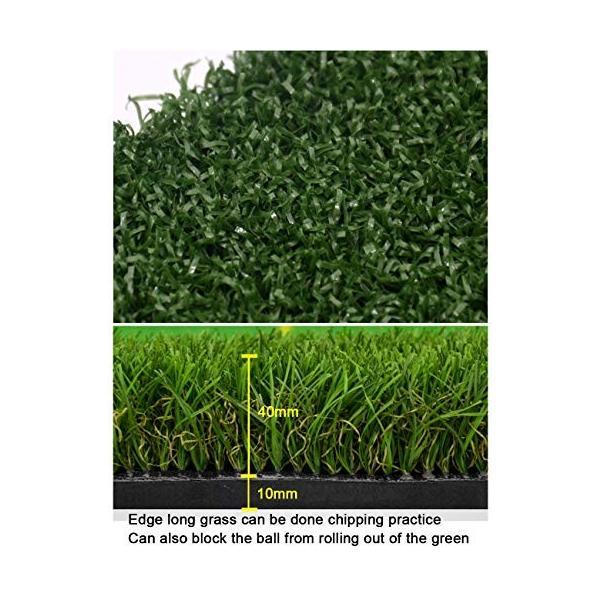 ゴルフパットマット、パッティンググリーン、ポータブルプラクティスマット、屋内/屋外ゴルフマット、トレーニング援助装置 - 100x350cm (色|shinydoll-store|04