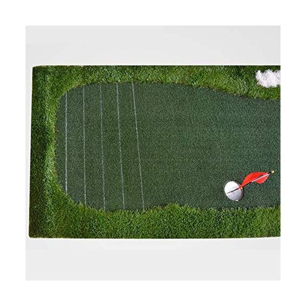 ゴルフパットマット、パッティンググリーン、ポータブルプラクティスマット、屋内/屋外ゴルフマット、トレーニング援助装置 - 100x350cm (色|shinydoll-store|05