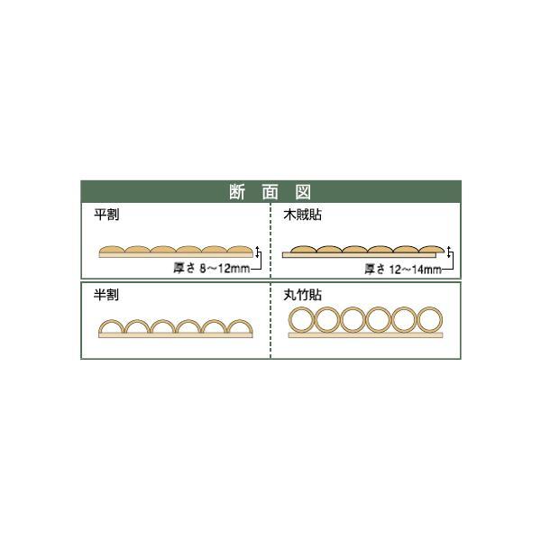 銘竹ボード 晒竹半割 ヨコ手貼 6×3尺|shioken|02