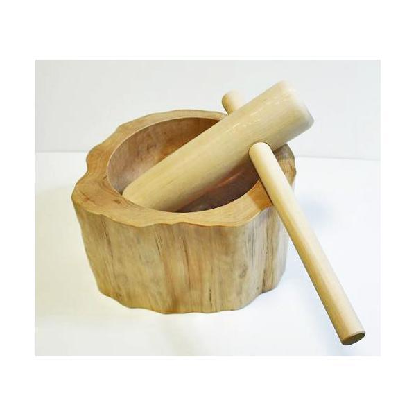 ミニ臼・杵 一升用 餅つき道具2点セット|shioken