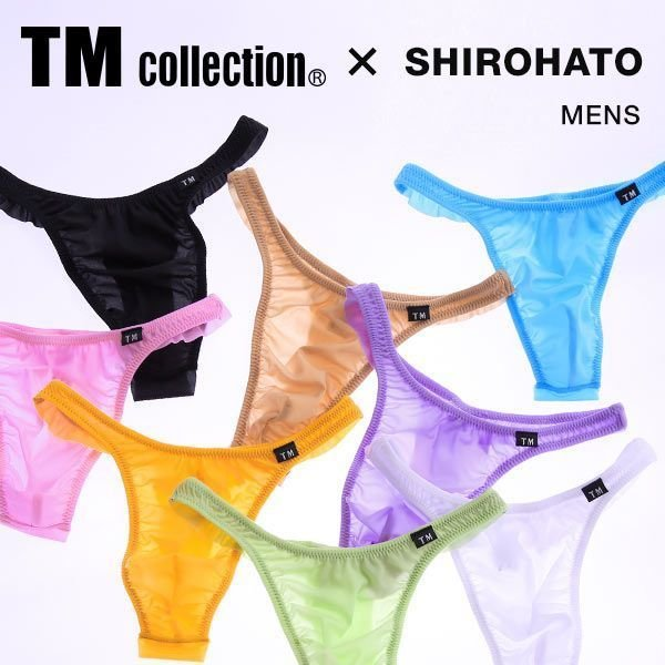 Tバック ショーツ ビキニ パンツ メンズ 下着 M L LL ティーエム コレクション SMF フリーカット TM collection SHIROHATO 日本製 セクシー メール便(3)