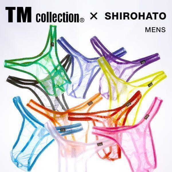 Tバック ショーツ ビキニ パンツ メンズ 下着 M L LL ティーエム コレクション スパークハーフ TM collection SHIROHATO 日本製 セクシー メール便(3)