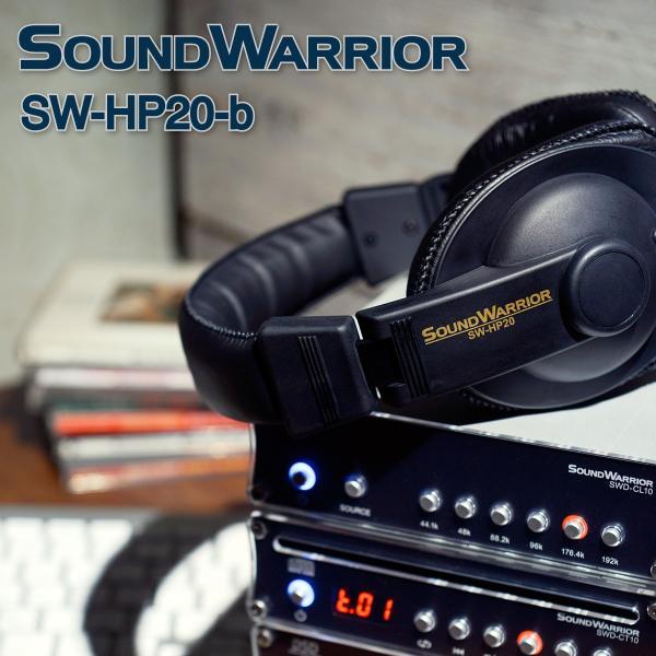 SOUNDWARRIOR リスニングユース・ヘッドホン SW-HP20-b|shiroshita