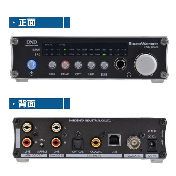 SWD-DA20 高機能USB D/Aコンバーター[SW Desktop-Audioシリーズ] サウンドウォーリアーSOUND WARRIOR(さうんどうぉーりあ) shiroshita 02