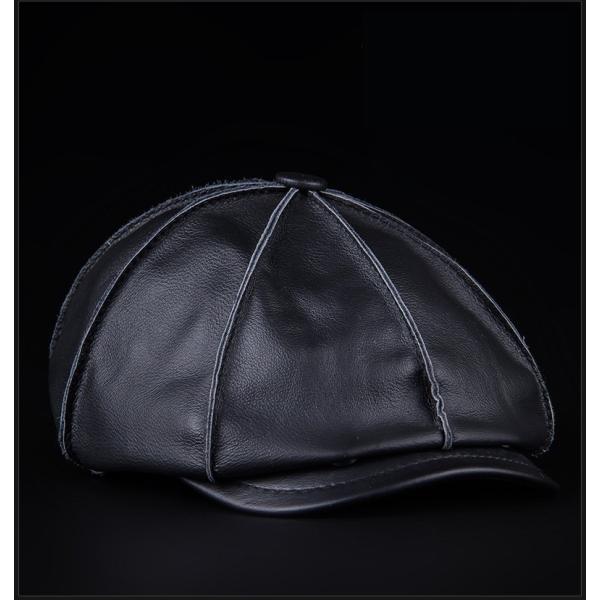 5e297307b6ac18 ... 帽子 メンズ ベレー帽 ハンチング帽 レザー帽子 メンズキャップ 防寒 暖かい 春秋冬 ゴルフ アウトドア ...