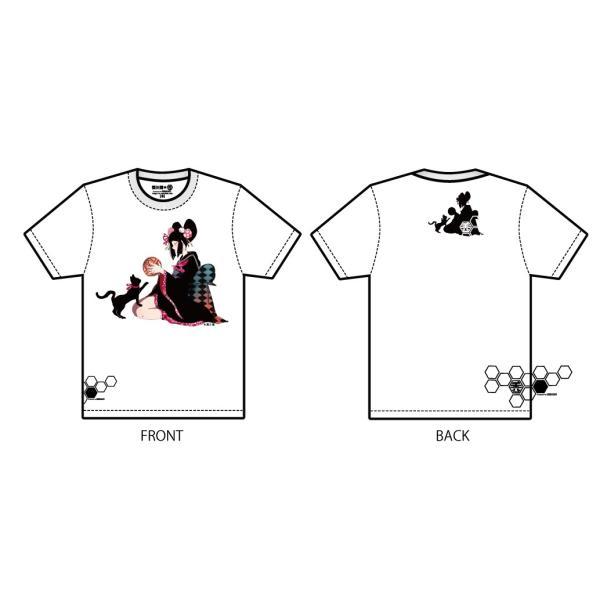禿ーKAMURO-猫と鞠 思春期マーブルTシャツ|shisyunki|02