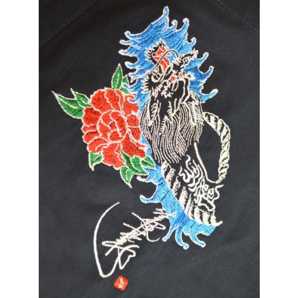 作務衣 帯付き セット 豪華刺繍入り メンズ 綿100% 龍道 ー Reed style SAMUE|shitateyajingoro|02