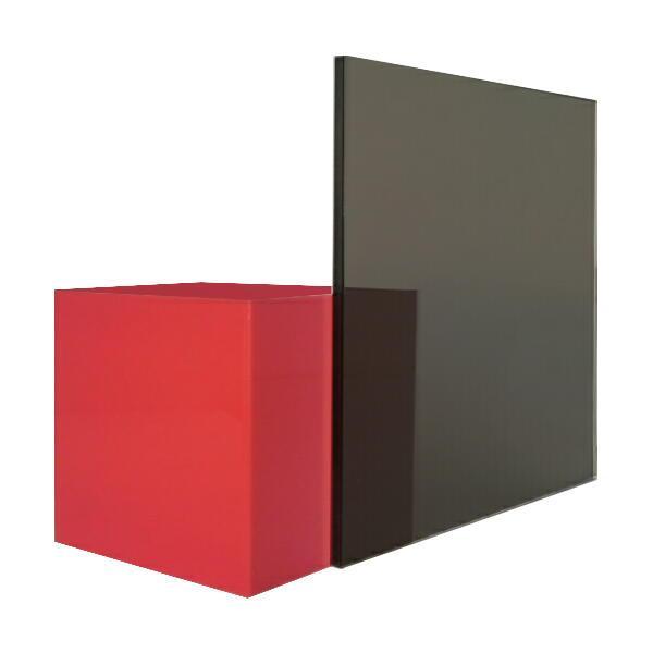 日本製 アクリル板 グレースモーク(押出板) 厚み3mm 200X450mm 縮小カット1枚無料 カンナ・糸面取り仕上(エッジで手を切る事はなし)