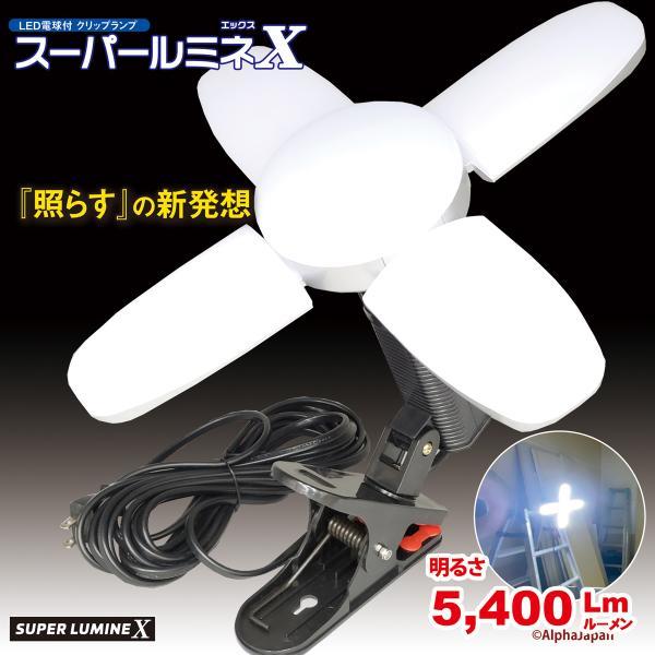 LED電球付 屋内用クリップランプ スーパールミネX 5mコード LA-4805-LEDの画像
